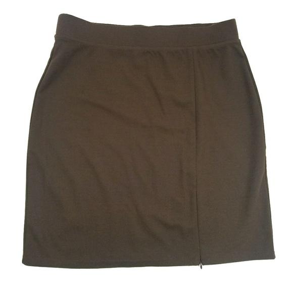 New York & Company Dresses & Skirts - New York & Company Brown Skirt w Adjustable Slit